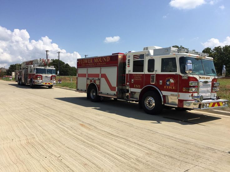 Flower Mound Texas Fire Departments Truck 501 And Engine Siddons Martin Emergency