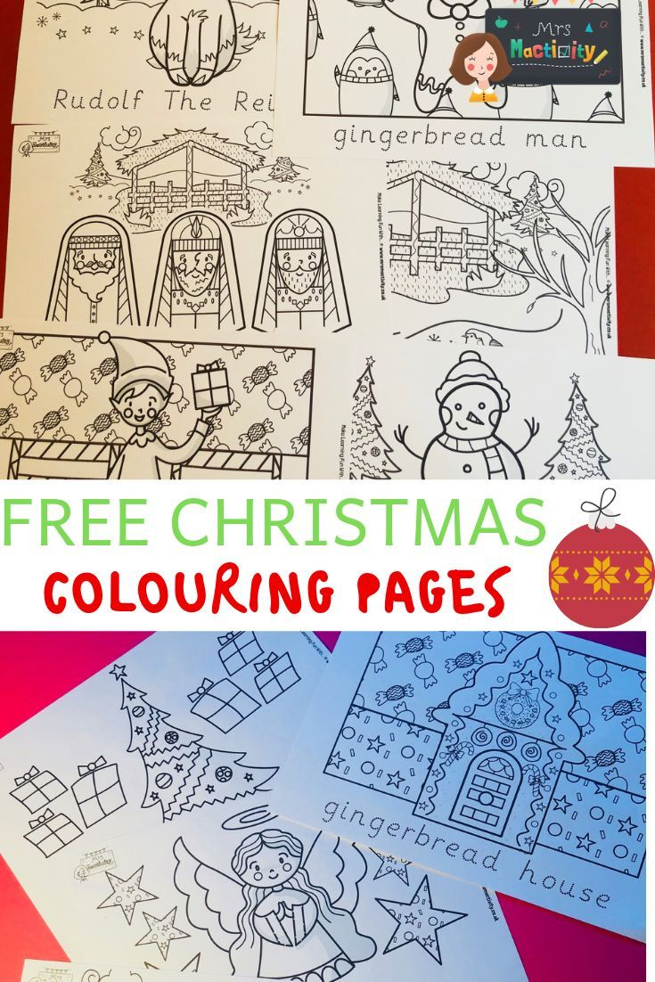 free christmas colouring pages with word trace | christmas