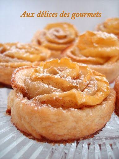 Aux délices des gourmets: ROSES FEUILLETÉES AUX POMMES
