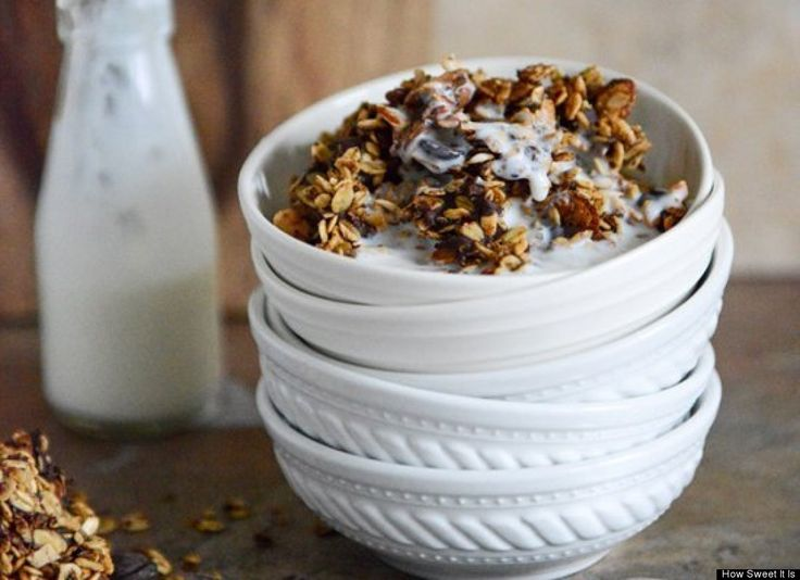 Crunchy Quinoa, Toasted Almond, and Dark Chocolate Brown Butter Granola
