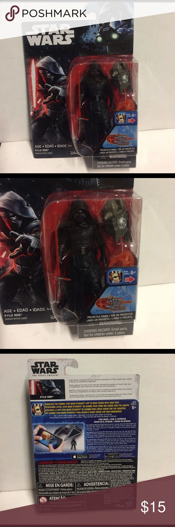 """Selling this Star Wars rouge one Kylo Ren  3.75"""" figure on Poshmark! My username is: i3collectibles. #shopmycloset #poshmark #fashion #shopping #style #forsale #hasbro #Other"""
