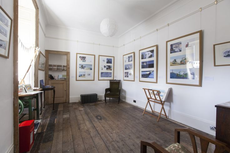 From Benji Davies new exhibition, The Storm Whale In Winter.