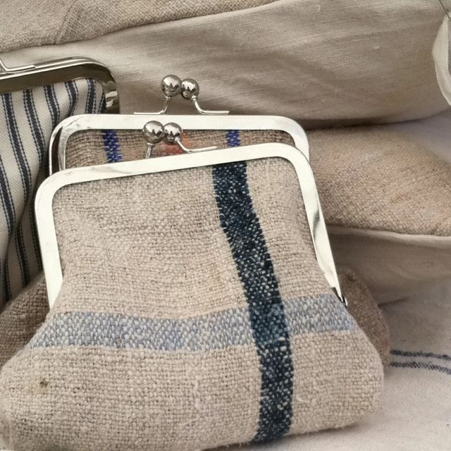 To make with thrifted linen kitchen towels. A larger purse would be nice too, for my knitting and such.