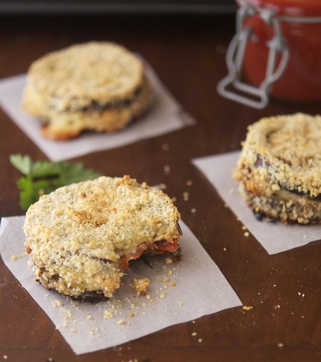 Baked Eggplant Sandwiches |  Easy, low-calorie and gluten-free comfort food