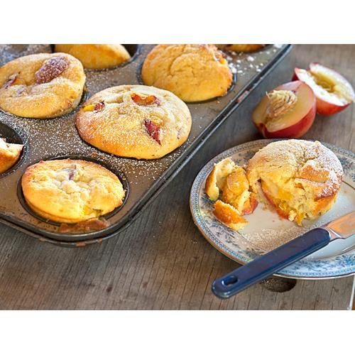 This delicious nectarine and cardamom muffin recipe is a one-bowl wonder as it's easy to throw together and the cardamom is a beautiful whisper of flavour alongside the fruit