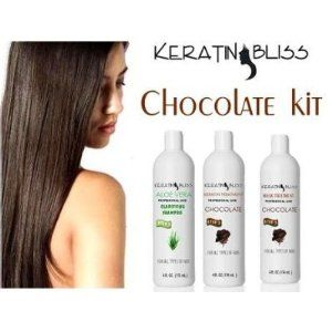 Brazilian Keratin Treatment By Keratin Bliss 16 Oz Chocolate Do-it Yourself Kit by Keratin Bliss. $139.99. This amazing kit brings the best of Keratin Bliss. Includes a Pre- Treatment Deep Cleaning( step 1), Keratin complex ( step 2) and the Mask to prolong the duration of the Keratin Bliss treatment .Este juego asombroso trae el mejor de Beatitud de Queratina. Incluye un Pre- Tratamiento de limpieza (paso 1), complejo de Queratina (paso 2) y la Mascara(paso 3) para prolong...