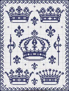 Вышивка крестом / Cross stitch : Короны - вышивка крестом