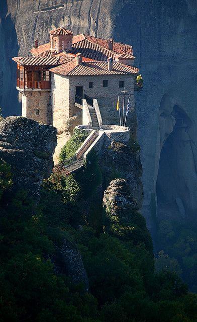 Rossanou Monastery, Meteora, Greece http://bit.ly/1rhS5KT