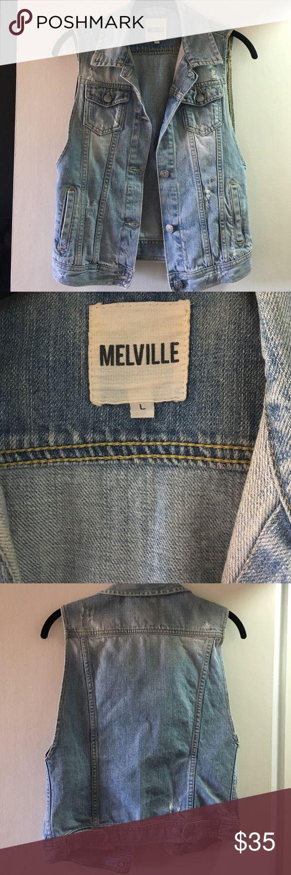 Brandy Melville denim vest Distressed denim vest Brandy Melville Jackets & Coats Vests