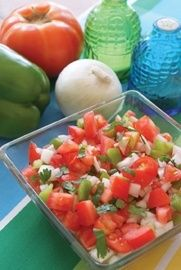 Marinated Tomato Salad  only 5 ingredients. Yum!