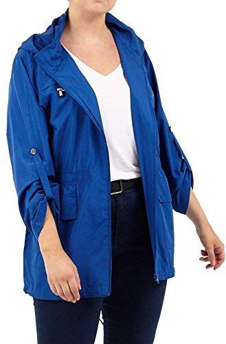 590e1c249ab8a Beautiful Click Selfie New Ladies Plus Size Fishtail Mac Raincoat Polyester  Hooded Parka Jackets 14-20 online.   29.99  favoritetophits from top store