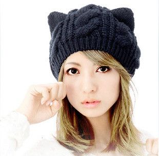 Description: Fashion Lady Girls Winter wool makes hotspot Cat Ear Hat Beanie. Item specifics: Item Type:Skullies & Beanies Pattern Type:Geometric Department Name:Adult Brand Name:Amarket Style:Casual