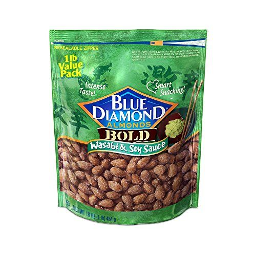 Blue Diamond Almonds Bold Wasabi  Soy Sauce 16 Ounce >>> For more information, visit image link. (Note:Amazon affiliate link) #FoodFrozenSnackFreshProduced