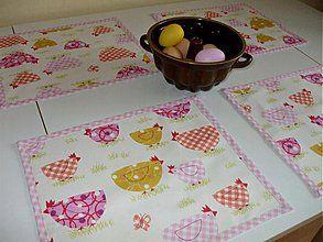 Úžitkový textil - Veľkonočné prestieranie so sliepočkami - 3807454_