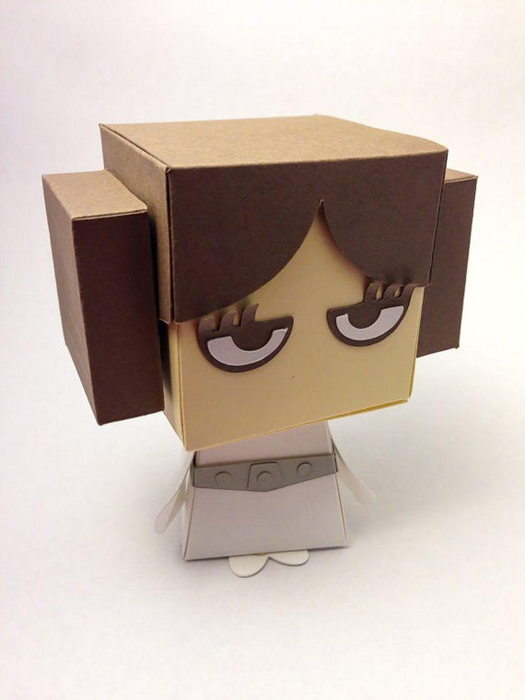 Star Wars Inspired Princess Leia Gift Box Display | scissorsandclay - Paper/Books on ArtFire