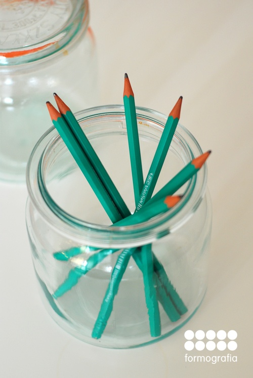 vintege polish weck jar perfect for storing small items and pencils