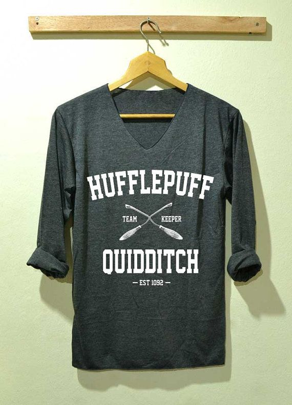 Hufflepuff Quidditch Shirt Harry Potter Shirts  Long Sleeve Unisex Size S M L