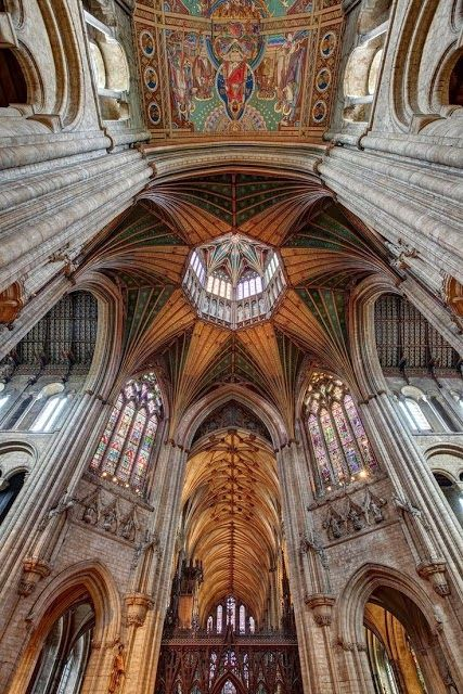 Ely Cathedral Epicentre, Cambridgeshire, England. Circa 1083 B. Lowe
