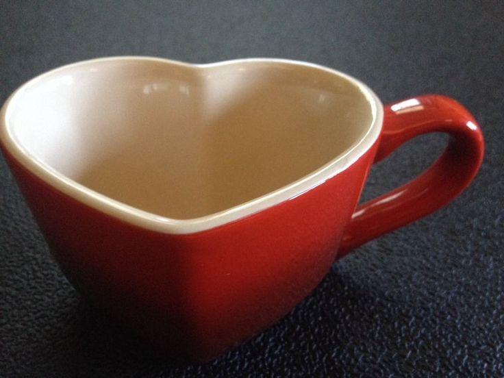 Cherry Red Le Creuset Heart Shaped Coffee Or Tea Mug Rare