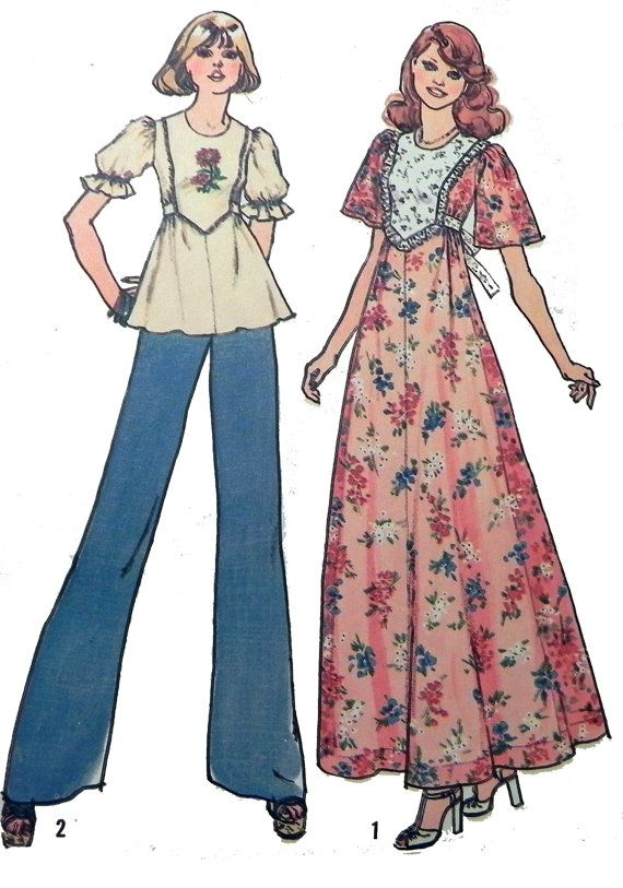 Simplicity 6931 1970s dress or top sewing by retroactivefuture, $6.00