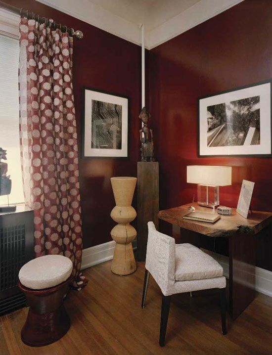 Dark Red Walls Best Couple Bedroom Ideas With Dark Red Walls - Deep red accent wall
