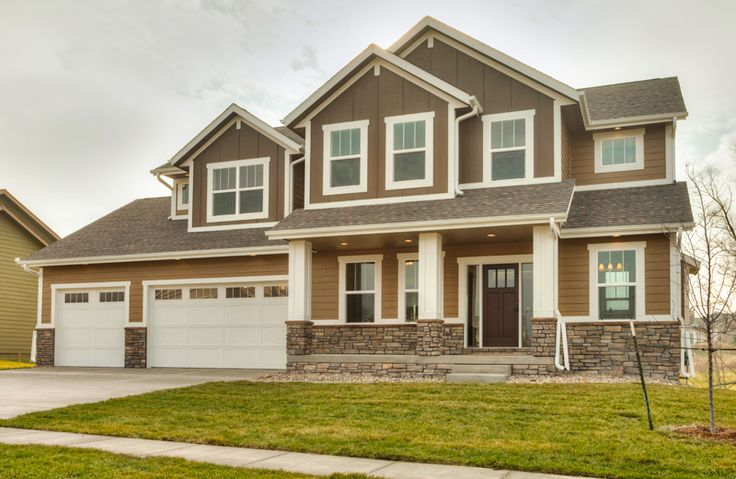 11 best images about craftsman exteriors on pinterest for Craftsman custom homes
