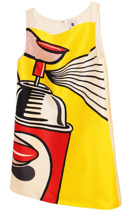 Graphic shift dresses are the perfect pop art meets fashion canvas. Example: Lisa Perry does Roy Lichtenstein