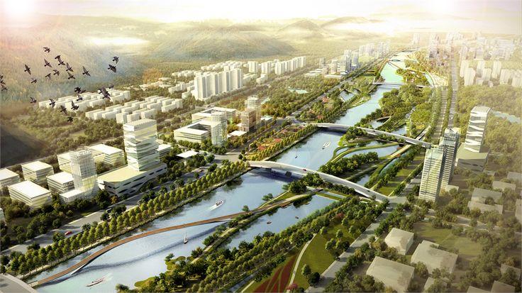 waterfront Zhuhai China - Buro Sant en Co landschapsarchitectuur