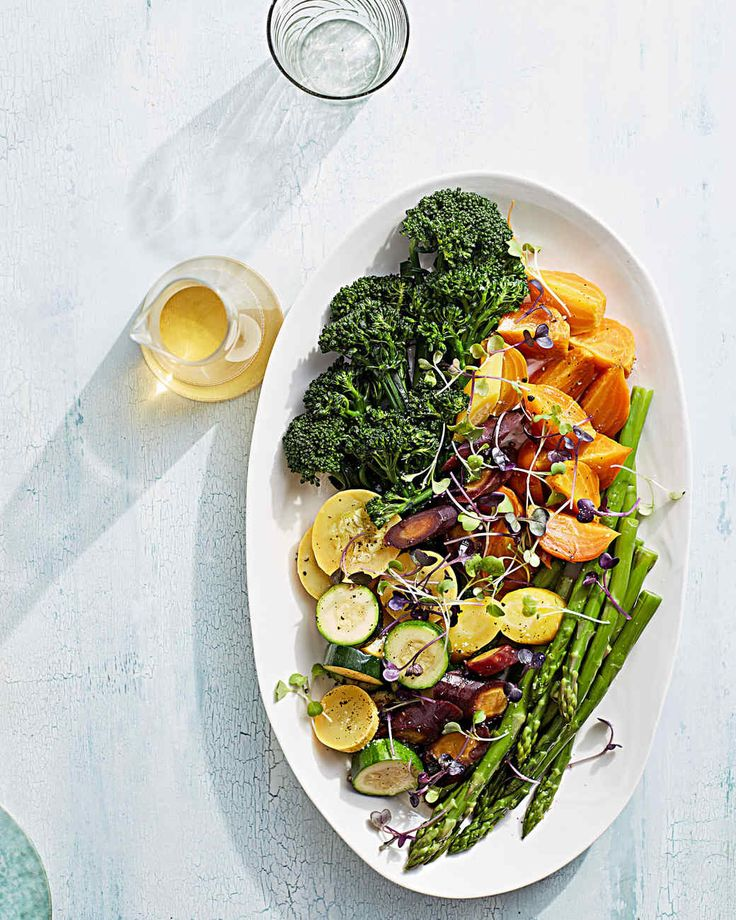 steamed vegetable salad with walnut oil