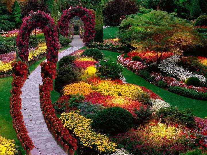 Butchart Gardens Is One Of The Most Famous Gardens In The