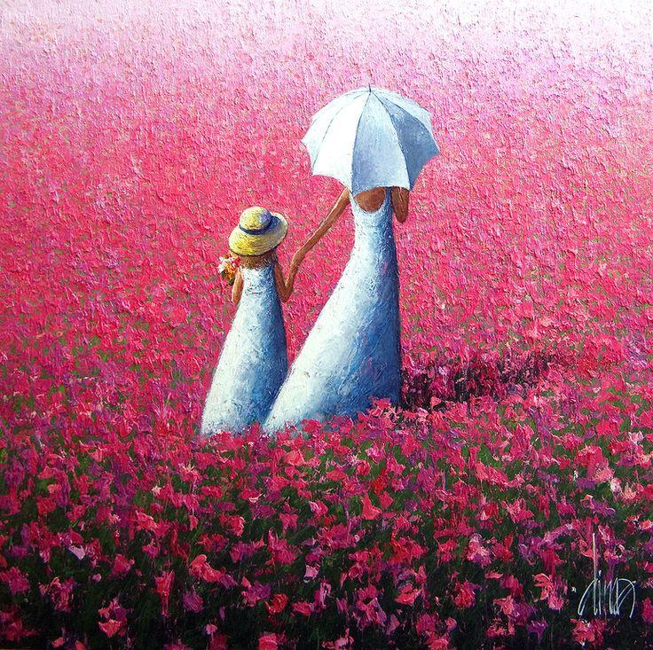 "Saatchi Online Artist: Dima Dmitriev; Oil, Painting ""Field of Pink"""
