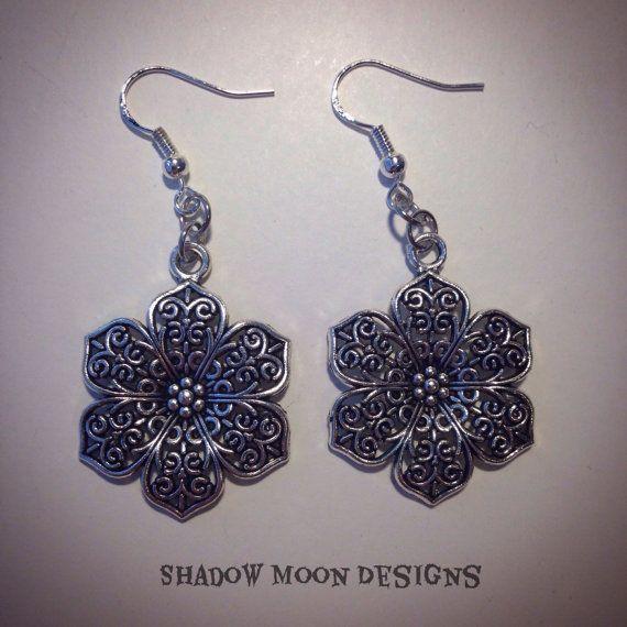 Gothic Flower Earrings