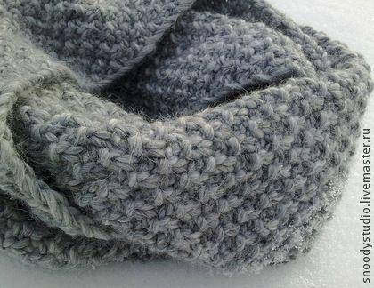 """Снуд """"Long-Long Island"""" в 2 оборота, шарф-труба, ручная вязка, вязание, объемная вязка, магазин на Ярмарке Мастеров// snood, cowl, scarf, neckerchief, comforter, comforter by SNOODy STUDIO"""