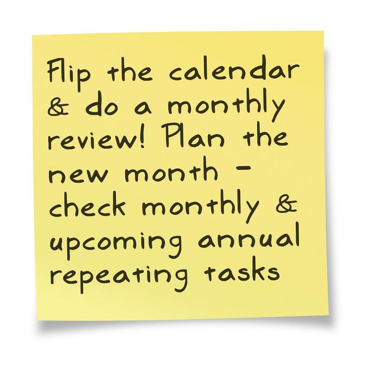 It's time for a monthly review and planning for the new month.