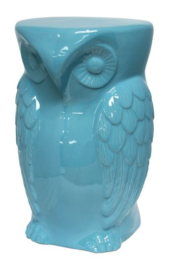 Hoot Statue - Aqua : Decorative Accents. Find all room accents and home accessories in one place. Urban Barn has hundreds of ideas  to compliment your decor.