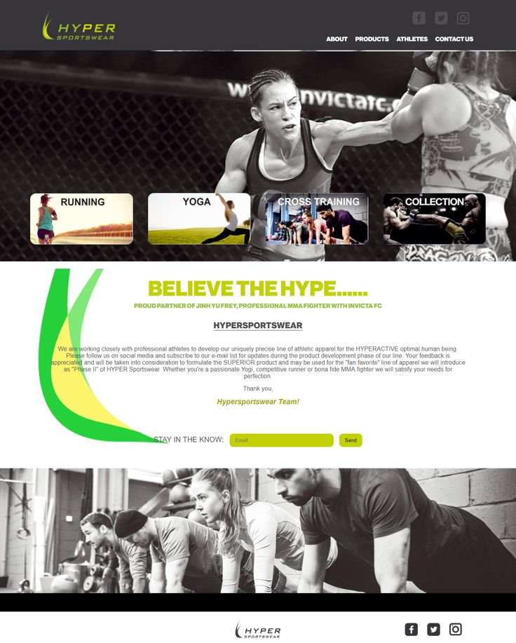 Diseño Web de Hyper Sportswear para Kumisoft