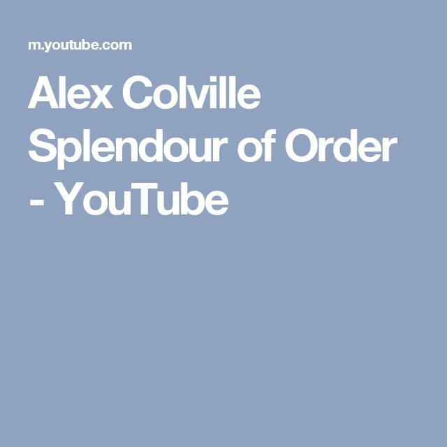 Alex Colville Splendour of Order - YouTube