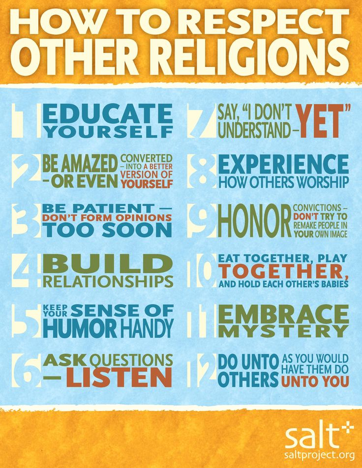 How to Respect Other Religions - SALT Project