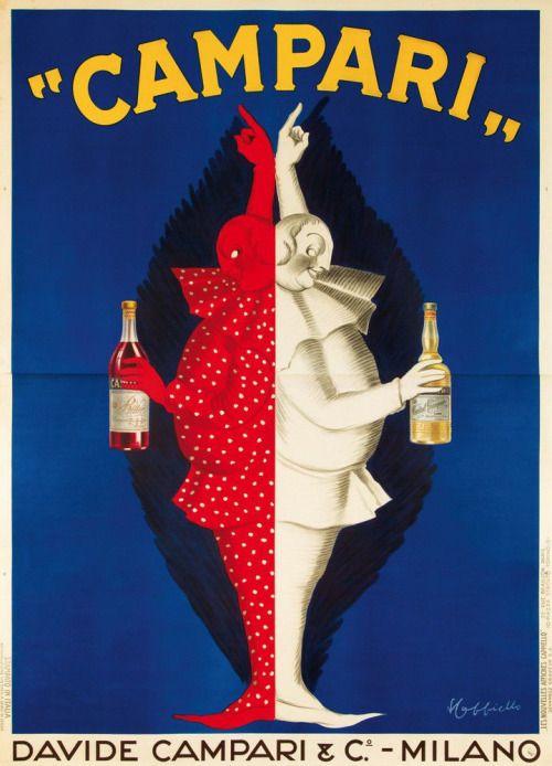"""100cose: """"CAMPARI Italian ad poster 1921 """""""