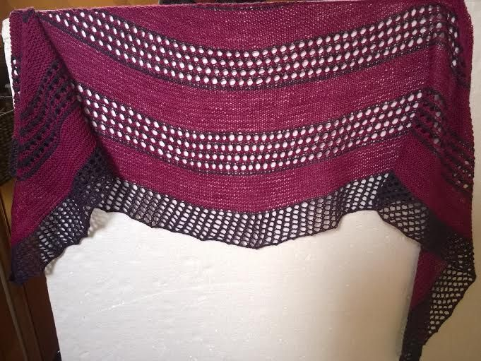 """Scarf/Wrap for me. Pattern from Janina Kallio """"On the Road"""""""