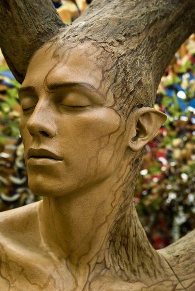 "OMG! Awesome! *.* ""human tree"" | olaf baeyens, via Flickr #art #sculpture #nature"