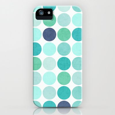 the blue dots iPhone & iPod Case by her art - $35.00