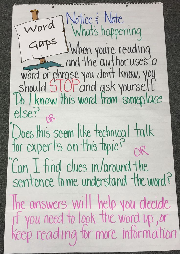 Word Gaps: Notice & Note for Nonfiction