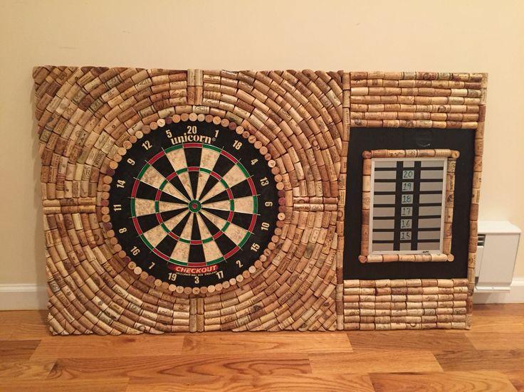 dart cork board made out of wine corks arts and crafts cork crafts cork art diy art. Black Bedroom Furniture Sets. Home Design Ideas
