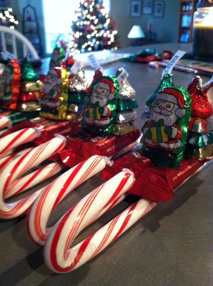 Candy Santa Sleighs (for nursing home residents?)