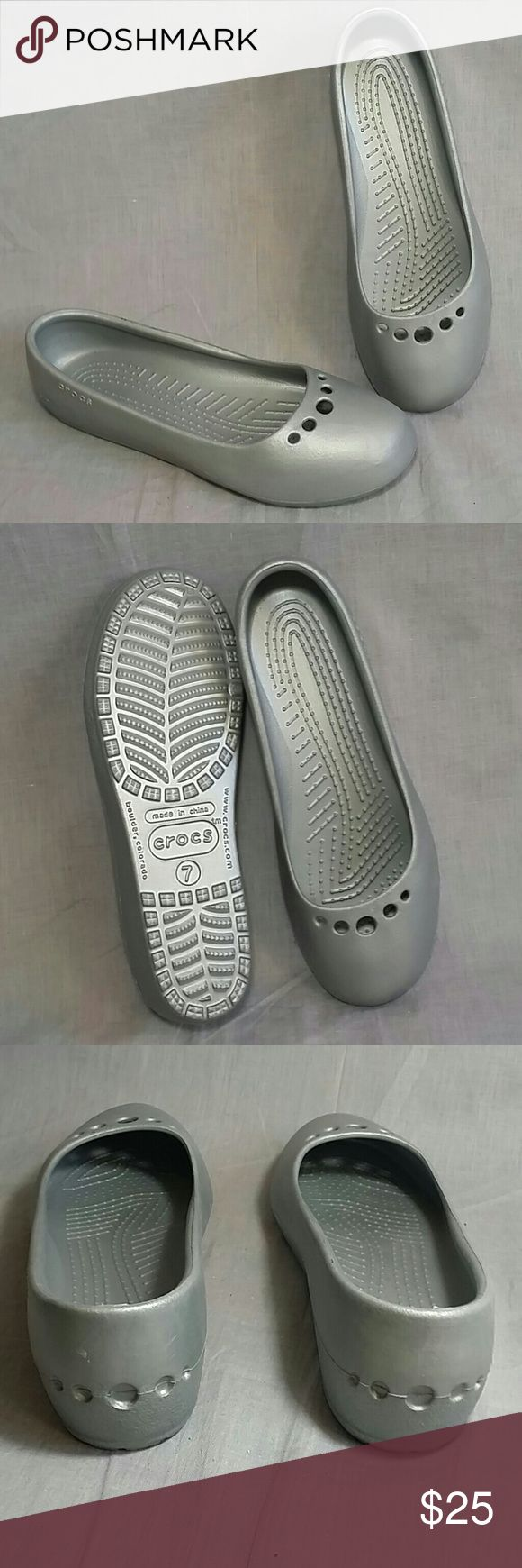 Crocs Shoes Gray Size 7 M Slip-on Rubber NEW Flat Women's Crocs Shoes item is NEW never been used. Crocs  Shoes Flats & Loafers