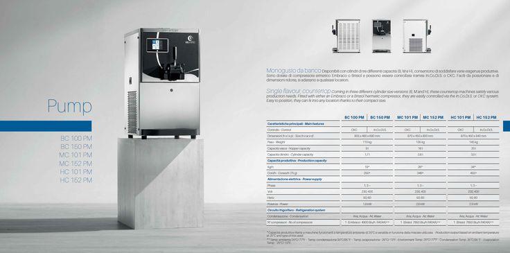 Pump Line: single flavour, countertop models.
