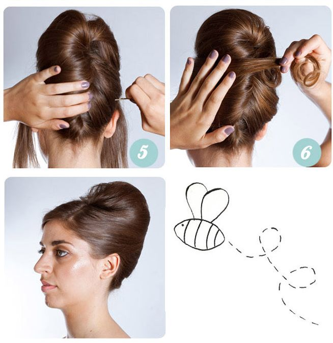 Steps to a beehive updo beehive hairstyles updo pinterest beehive beehive hairstyle and - How to build a beehive in easy steps ...