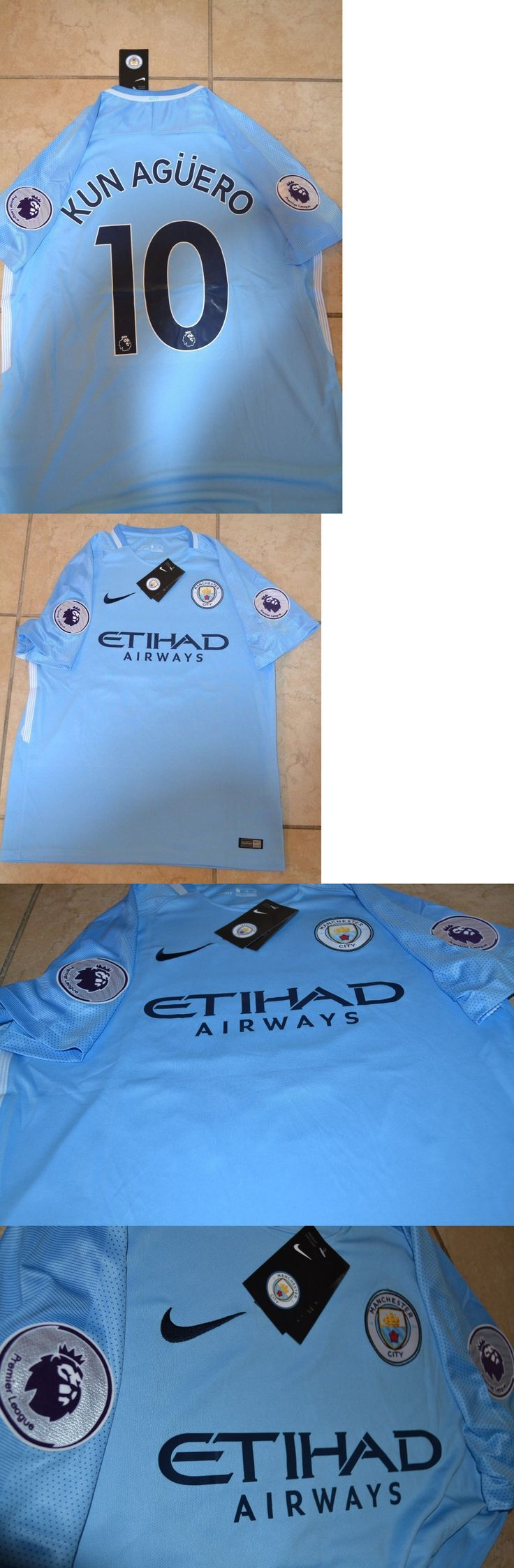 Soccer-International Clubs 2887: Kun Aguero #10 Manchester City Home Soccer Jersey -> BUY IT NOW ONLY: $44.99 on eBay!