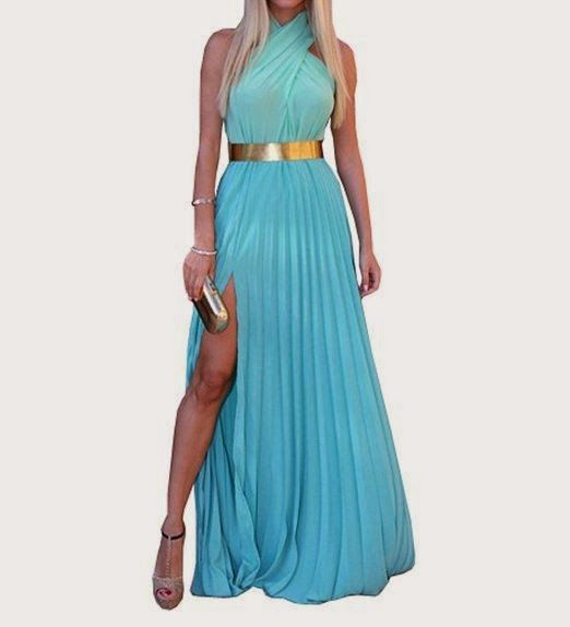 maxi dress: blue maxi dress